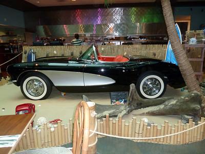 Corvette in a restaurant...