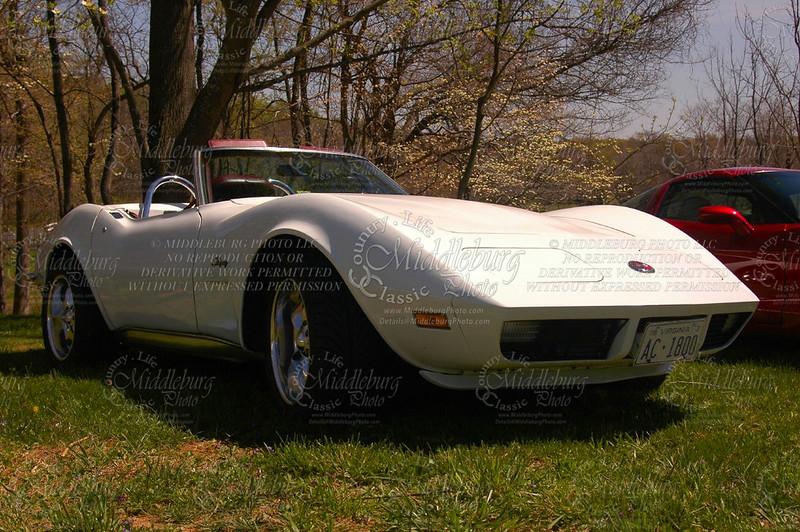 Old Dominion Corvette Club. La Grange Winery. 1973 Chevrolet Corvette