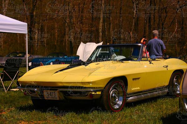 Old Dominion Corvette Club Event. La Grange Winery. 1967 Chevrolet Corvette