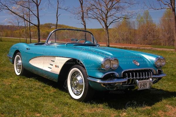 La Grange Winery. Old Dominion Corvette Club Event. 1959 Chevrolet Corvette