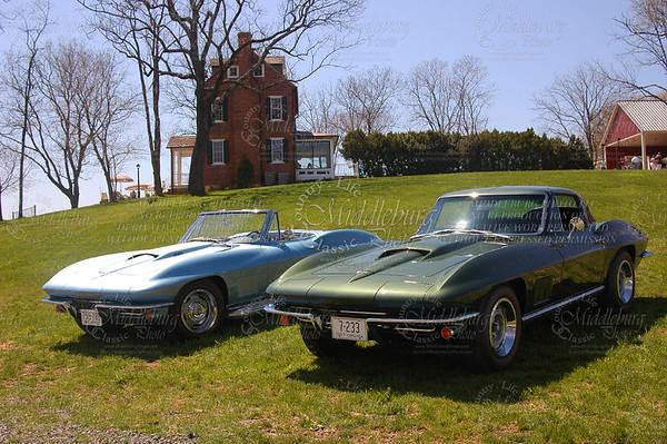 La Grange Winery. A beautiful setting for Old Dominion Corvette Club's event. 1967 Chevrolet Corvettes