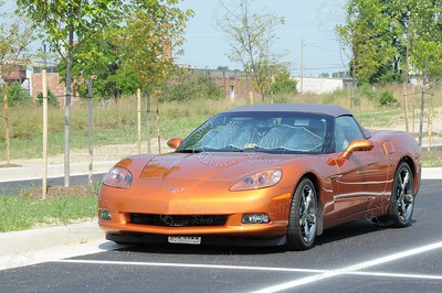 Corvette in the parking lot