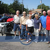 "Chuck Miller, Ken Kovacs, Bob Blaser, Owner of the ""NU1963"" Corvette, Mayor Eileen Buland, Tom eaton and Jerry Kolesar...all from Youngstown area..All drove Corettes here..now on display."