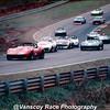 1971 Jerry Hansen # 44 leads # 1 Jim Greendyke & # 8 Herb Caplan at  Runoffs at Rd Atl - 02
