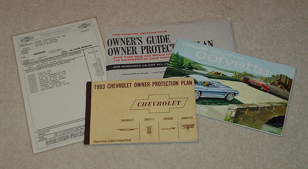Owner's original glove box material. This set s not kept in the car.