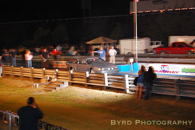 Tim Lynch under the lights at I-40 Dragway in Crossville, TN.