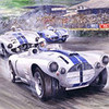 "Photo: Artwork by Carlo Demand of 1953 ""Le Mans 24 Hours --- The Briggs Cunningham & Spear Cunningham 4-R leads the John Fitch & Waters Cunningham and the Gignoux and Azema Panhard"" (Source: <a href=""http://thecarnut.typepad.com"">http://thecarnut.typepad.com</a>)"