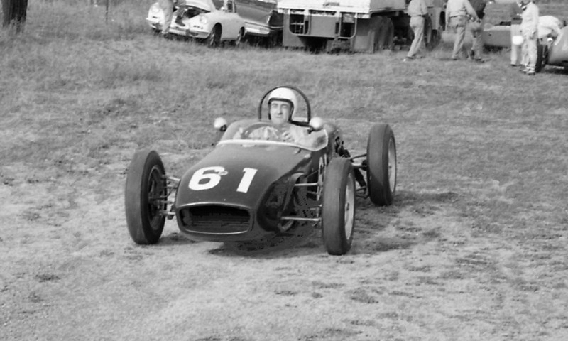 """Beautiful Lotus 18 with what appears to be Briggs Cunningham at the wheel. Source: <a href=""""http://www.barcboys.com/GlenGP1960-3.htm"""">http://www.barcboys.com/GlenGP1960-3.htm</a>."""