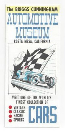 Briggs Cunningham Automotive Museum brochure