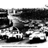 1960 Le Mans: They're off, led by the CAMORADI Corvette and two Cunningham Corvettes. Available from Bernard Collier.