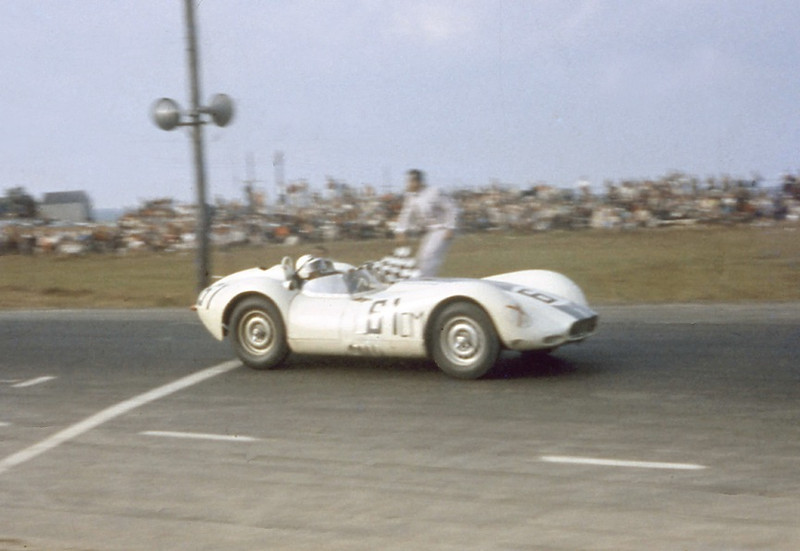 Lister Jaguar BHL 102 @ Watkins Glen - 1961 - No. 61 ListerJag wins. Photo credit: Colin Comer