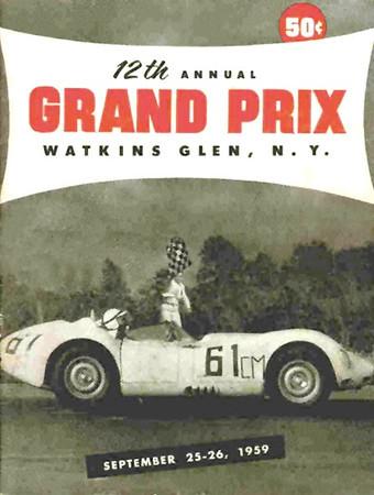 Lister Jaguar BHL 102 @ Watkins Glen GP - 1961 program cover. Photo credit: Colin Comer