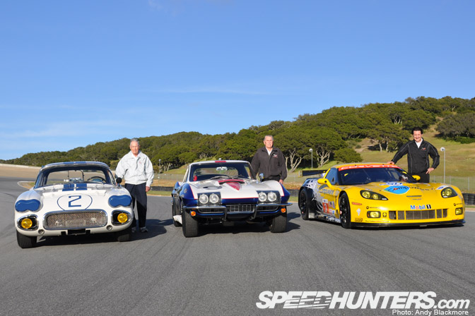 """Guldstrand was another guest at Laguna Seca, seen here with Thompson and two-time Le Mans class winner, Ron Fellows. (Source: <a href=""""http://www.speedhunters.com/2010/06/car_feature_gt_the_corvette_legends_of_le_mans/"""">http://www.speedhunters.com/2010/06/car_feature_gt_the_corvette_legends_of_le_mans/</a>)"""