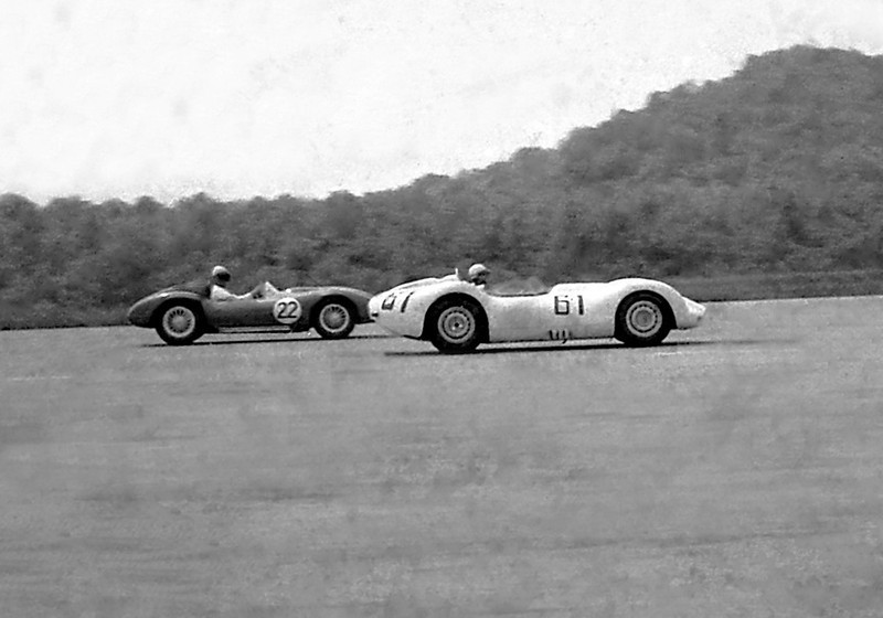 Lister Jaguar BHL 102 - Sadler @ Cumberland - 1958. Photo credit: Colin Comer