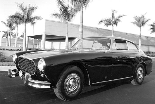 1953 C-3 from the Cunningham collection, photographed in front of the Collier Museum.