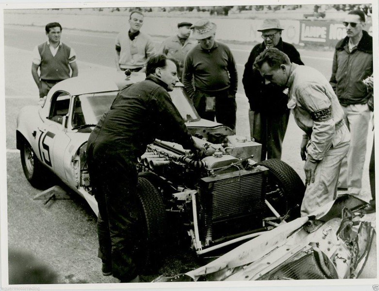 E-Type at 1963 Le Mans (Photo credit: Unknown)