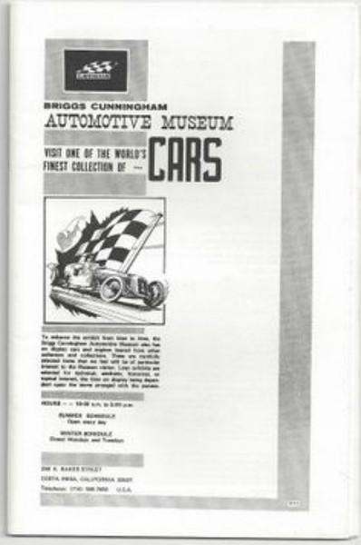 Briggs Cunningham Automotive Museum brochure