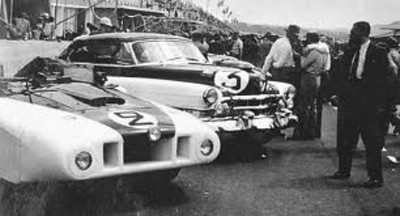 """When the legendary American sportsman Briggs Cunningham received an invitation to race at Le Mans in 1950, he ordered two coupes with three speeds, and commissioned an aeronautical engineer to build a special aerodynamic light-weight alloy body for one of them. The result was brutally effective but none too handsome. The French dubbed it """"Le Monstre""""; as can be readily seen why. (www.curbsideclass...)"""