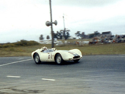 Lister Jaguar BHL 102 Sadler @ Cumberland - 1958. Photo credit: Colin Comer