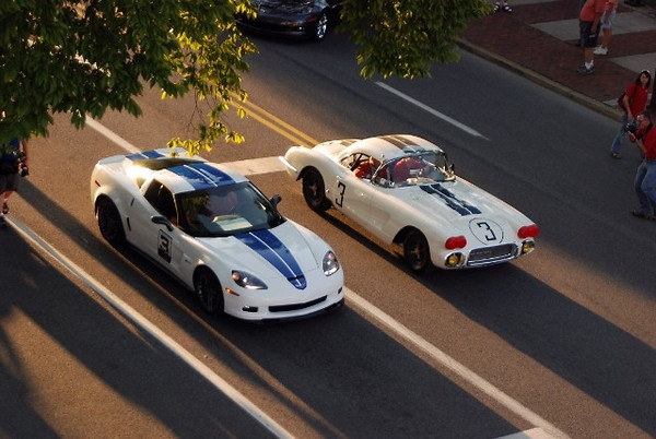 "Fans of the Corvette know that 2010 marks a special occasion; the 50th anniversary of Corvette's first victory at the 24 Hours of Le Mans endurance race. The founder of Corvettes at Carlisle, Carlisle Events and the Chip Miller Charitable Foundation helped orchestrate a once-in-a-lifetime gathering of the original 1960 Briggs Cunningham #3 Corvette, its driver John Fitch, along with the one-off 2011 GM Tribute Corvette. Source: <a href=""http://forum.lsxtv.com/showthread.php?t=3082"">http://forum.lsxtv.com/showthread.php?t=3082</a>."