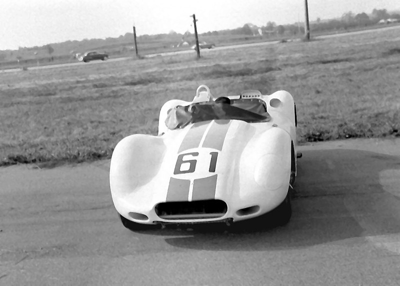 Lister Jaguar BHL 102 @ Montgomery - 1958. Photo credit: Colin Comer