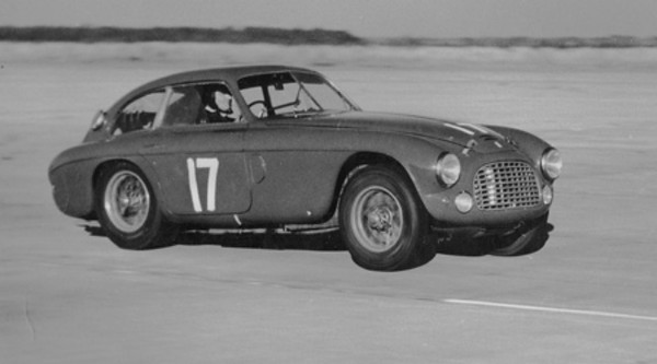 Sebring, FL, December 30, 1950 at 3:00 pm. Another Ferrari, a French Blue 195 S owned by Briggs Cunningham was driven by Luigi Chinetti and Alfred Momo. It placed 7th. Photo courtesy Frank Campanale collection.