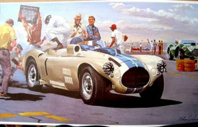 1953 Briggs Cunningham Race Car Racing Design (Source: Etsy)