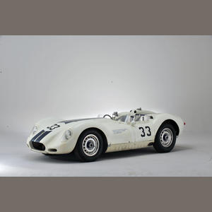 """This Lister-Jaguar sports-racing cars has a long history as the very first prototype 'Knobbly' Lister-Jaguar in the Cambridge sports car marque's definitive 1958-season form. As one of the Briggs Cunningham Automobile Racing Team's two regular, highly-developed and beautifully-prepared entries it played a major role in securing the 1958 Sports Car Club of America (SCCA) National Championship title for driver Walt Hansgen. Source:  <a href=""""http://www.bonhams.com"""">http://www.bonhams.com</a>."""