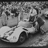24 Hours of Le Mans, 1961. The Maserati Tipo 60, number 24, of Briggs Cunningham and Bill Kimberly, after crossing the finish line in 8th place. (Photo credit: Albert R. Bochroch Photograph Collection, Revs Institute)