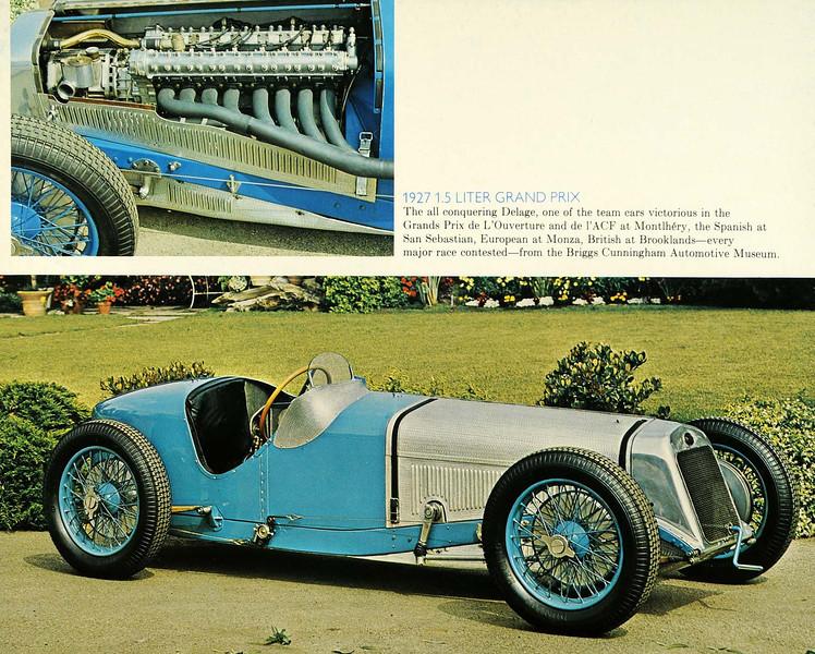 Antique 1927 Delage Grand Prix Briggs Cunningham Automotive Museum