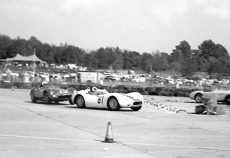 Lister Jaguar BHL 102 & Daigh @ Montgomery - 1958. Photo credit: Colin Comer