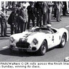 The Fitch/Walters C-2R rolls across the finish line to win its class in Le Mans 1951.