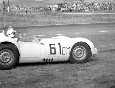 Lister Jaguar BHL 102 @ Watkins Glen GP - 1961. Photo credit: Colin Comer