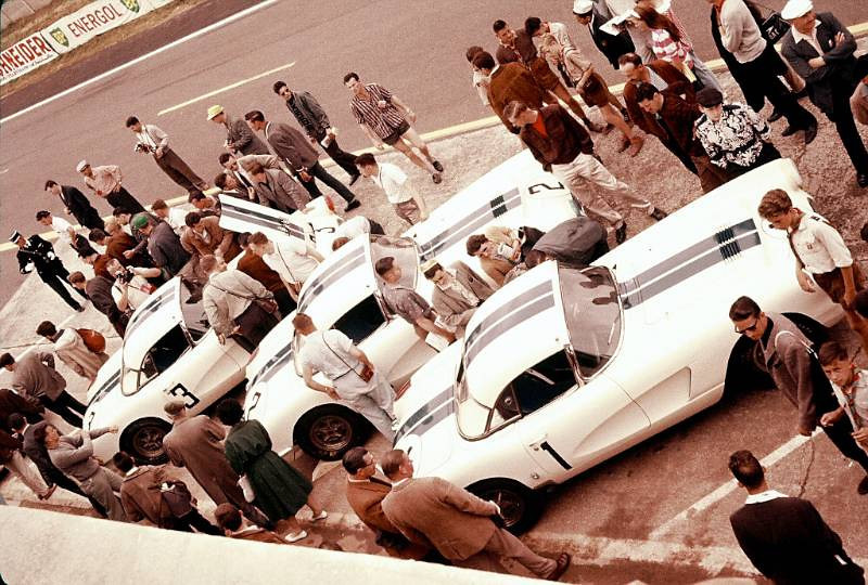 "Three Corvettes entered by Briggs Cunningham went after glory in the 1960 24 Hours of Le Mans. (Source: <a href=""http://jerrygarrett.wordpress.com"">http://jerrygarrett.wordpress.com</a>)"