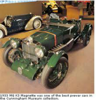 1933 MG K3 Magnette was one of the best prewar cars in the Cunningham Museum collection.