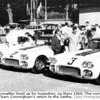 The Cunningham Corvettes lined up for inspection, Le Mans 1960. The number three car saved the day for Team Cunningham's return to the Sarthe. (Lafay Photographic, BSC Collection)