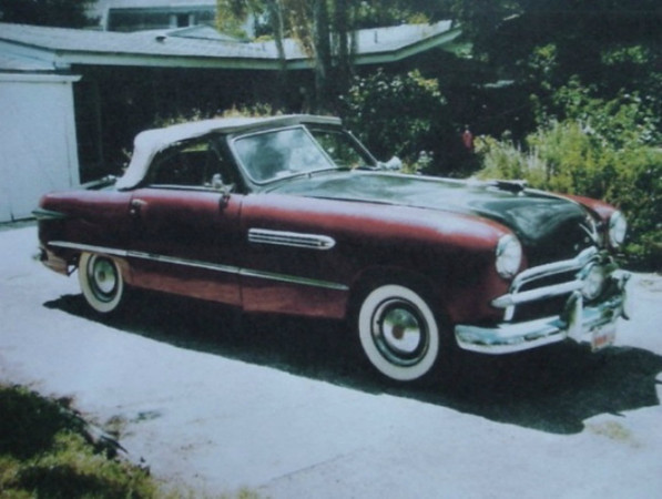 "The seller of this Ford-based custom says it was built by Briggs Cunningham and Bill Frick on Long Island, New York in the early days of their partnership. They attempted to enter one at LeMans but were rejected, so Briggs entered his famous pair of Cadillacs instead in 1950. It isn't clear whether this is the rejected car or a separate Fordillac project, but this one features Cadillac V8 power, a passenger compartment moved rearward, and front fenders stretched 18″. It is said to have been sold by Cunningham to Thomas Campbell (the soup baron) who stored it away for several decades after he passed away in 1954. Source: <a href=""http://bringatrailer.com/2010/12/26/briggs-cunningham-ties-1949-fordillac/"">http://bringatrailer.com/2010/12/26/briggs-cunningham-ties-1949-fordillac/</a>."