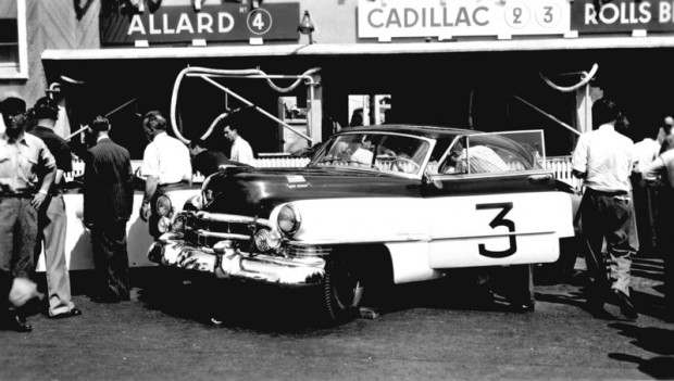 """The Briggs Cunningham-entered Cadillac 61 Coupe finished 10th at Le Mans in 1950. (Source: <a href=""""http://www.sportscardigest.com"""">http://www.sportscardigest.com</a>)"""