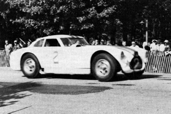 "THE ELKHART LAKE CUP (Third race - Sunday, September 7, 1952) - Phil Walters #2 finished second in a Cunningham C4-RK Chrysler. B. S. Cunningham Company of West Palm Beach, Florida built the V-8 powered sports car. Briggs Cunningham entered three cars in the race. (Source: <a href=""http://www.scharch.org/Road_America_History/ELK-ElkhartCircuits.htm"">http://www.scharch.org/Road_America_History/ELK-ElkhartCircuits.htm</a>.)"