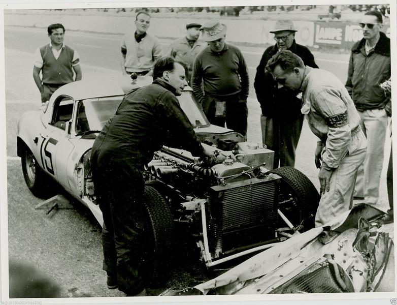 Jaguar E-Type at 1963 Le Mans (Photo credit: unknown)