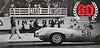 Limerock Park, CT April 28, 1957 D-Type Jaguar #58 = Briggs Cunningham / hidden car is D-Type Jaguar #59 = John Fitch (Photo credit: Limerock Park, CT)