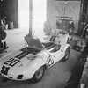 12 Hours of Sebring, 1961. Cunningham team Maseratis in preparation pre-race. Car number 20, Walter Hansgen and Bruce McLaren Maserati T63 and car number 31, Briggs Cunningham, Bill Kimberly, and Walter Hansgen Maserati T60. (Photo credit: George Phillips Photograph Collection, Revs Institute)