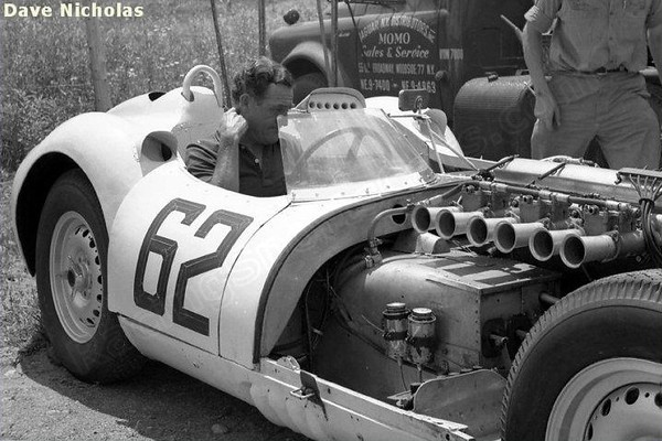 "Lister Jaguar driven by Briggs Cunningham (SCCA National Lime Rock - Classes: CM+DM+EM+FM). Source: <a href=""http://www.racingsportscars.com"">http://www.racingsportscars.com</a>."