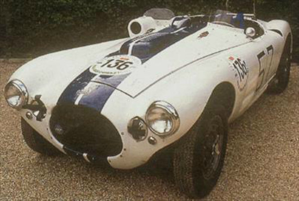 "In the early 1950s Briggs Cunningham made America's presence felt at Le Mans by fielding his own sports cars, the C4r. Specifications performance: Top speed of about 160 mph engine typedrivetrain: Overhead-valve, v8 displacement 331.1 cu. In. (5.4 l) power rating 300 hp transmission 5-speed, all-synchromesh chassis: Coil-spring suspension, independent in front; 2,410 lbs. Source: <a href=""http://www.carhistoryclub.com/files/cunningham_c4r__19521954.htm"">http://www.carhistoryclub.com/files/cunningham_c4r__19521954.htm</a>."