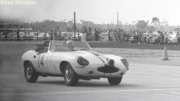 "Jaguar E-type #875027 (Sebring 12 Hours). Source: <a href=""http://www.racingsportscars.com"">http://www.racingsportscars.com</a>."