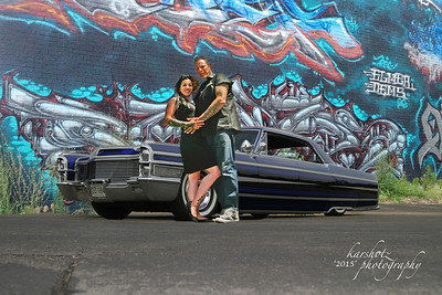 Collette and Larry, Image 1,  2015 Custom Car Revival, Indy