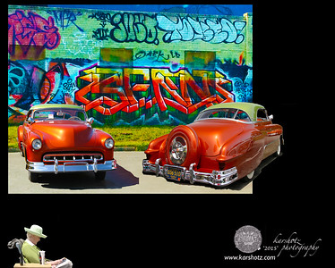 Graffiti Building Shoot, Image 1, CCR 2015 Indy, 1951 Chevy