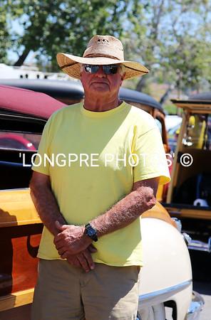 ROGER EVANS beside his Chrysler Sedan Woodie