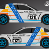 2014 Fore Delta Associates/Kids Against Hunger-Bay Area/Rimz & Ribz/I Am Second/4D Motorsports Ministry race car livery design.