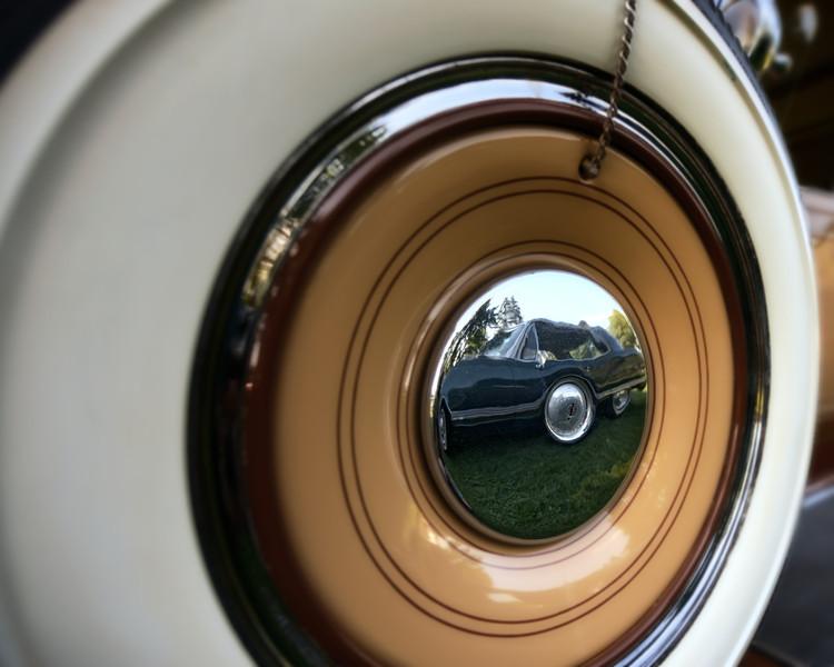 1929 Packard Hub Cap Reflection